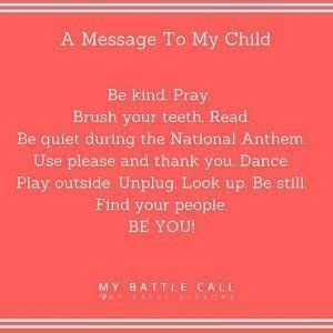 A Message to my Child