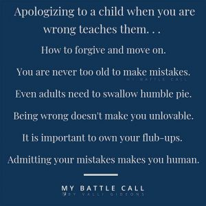 What Apologizing Teaches Children