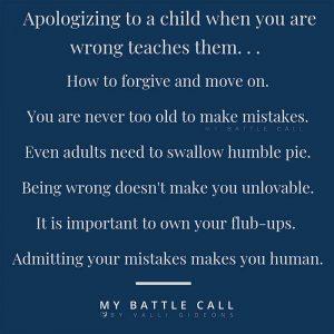 What Apologizing Teaches Children